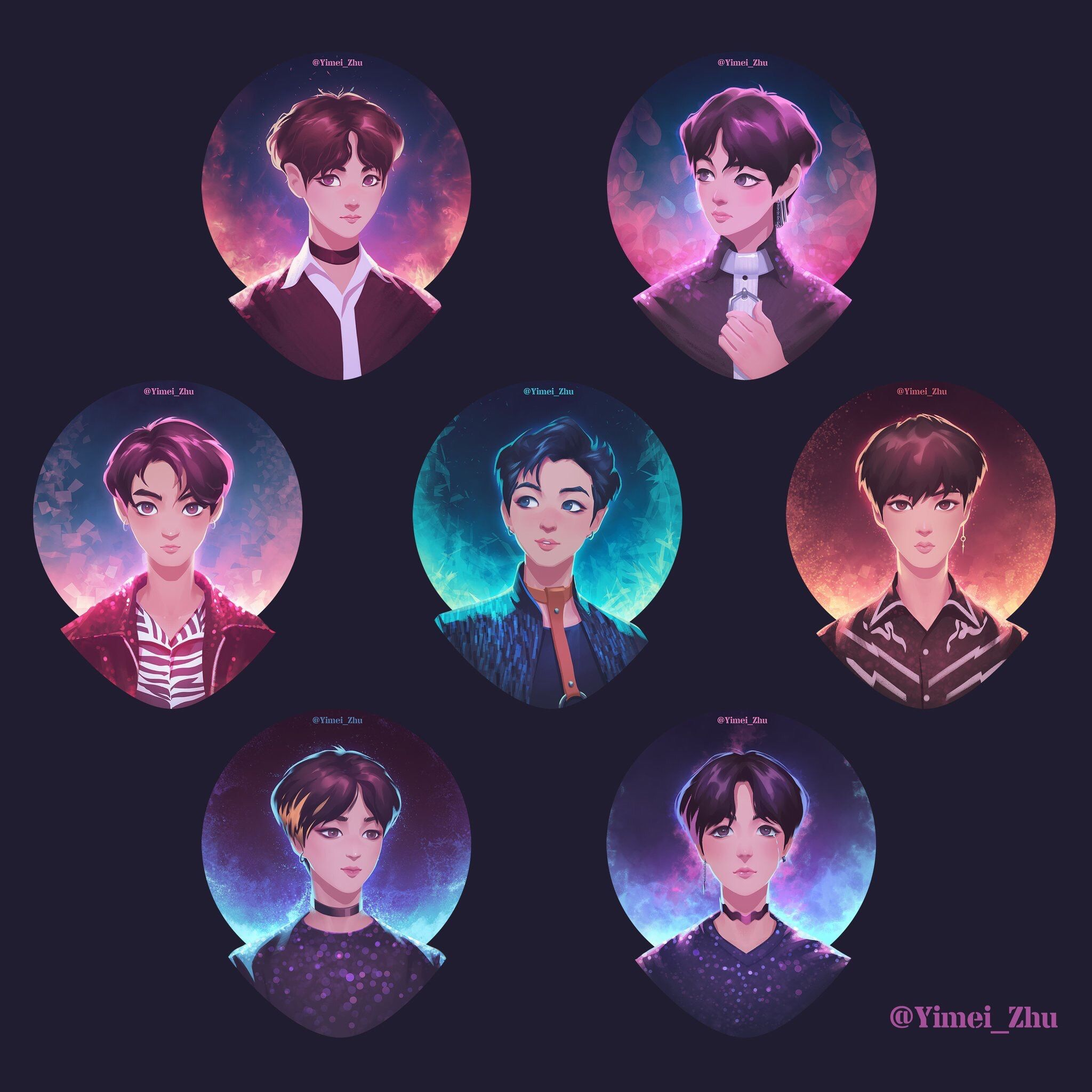 Fake Love Wallpapers: #bts #btsfanart #fanart Credit To Twitter.com/yimei_zhu