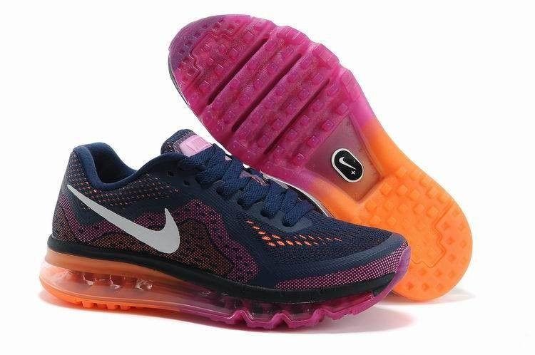 chaussures de sport a1924 16660 Nike Air Max 2014 - Noir Gym Rouge Reflect Argent - Femme ...