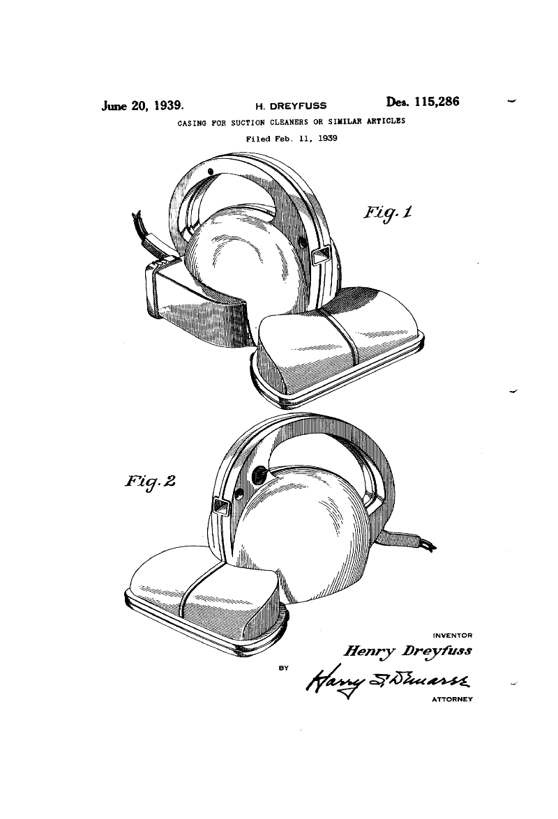 A Hand Vacuum Design For Hoover By Henry Dreyfuss That Never Came To