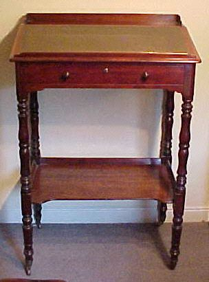 small desk Georgian mahogany standing desk 1428 J For Sale