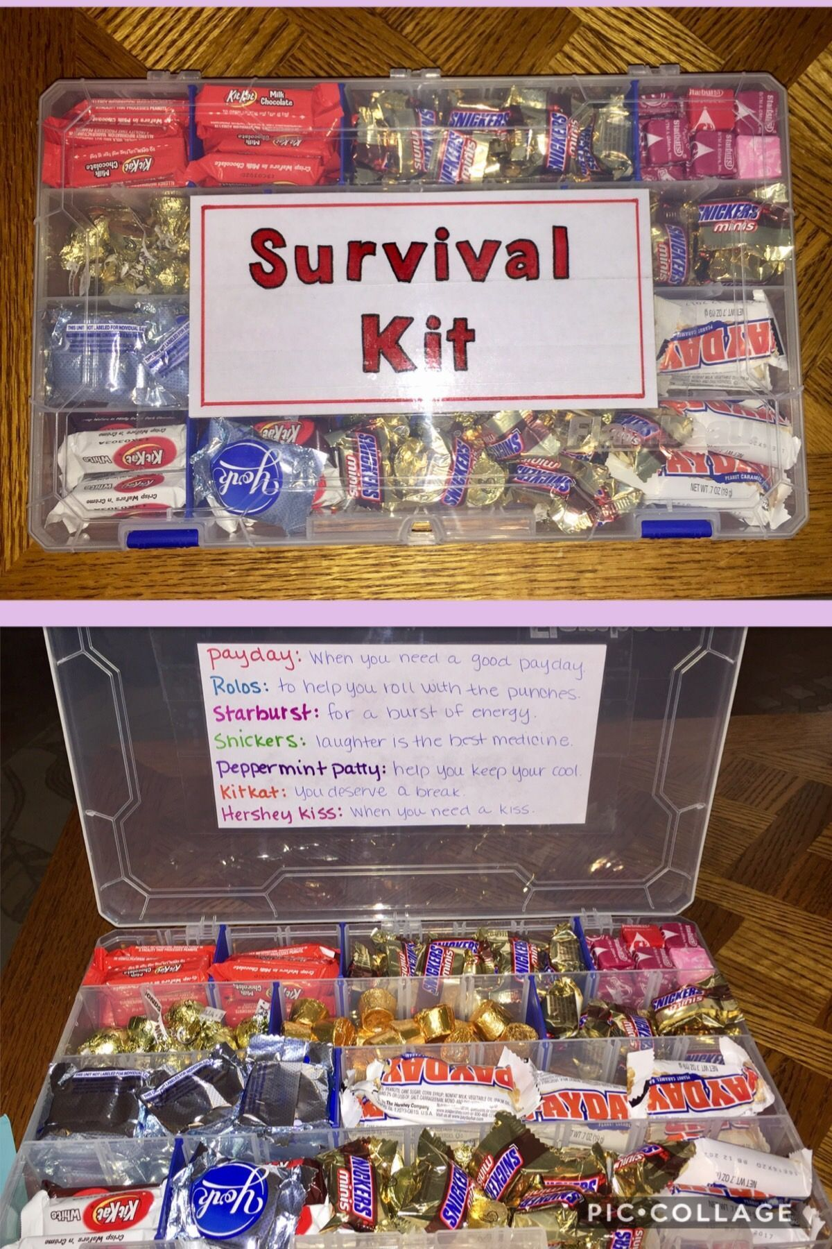 Candy Survival Kit For Everyday Pick Me Ups Gift My Dads Birthday SurvivalDiyGifts