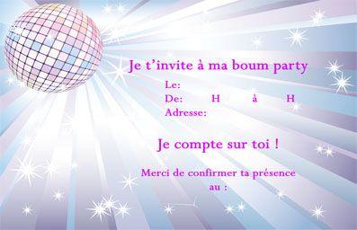 Invitation Anniversaire Ado Boum | Gosupsneek