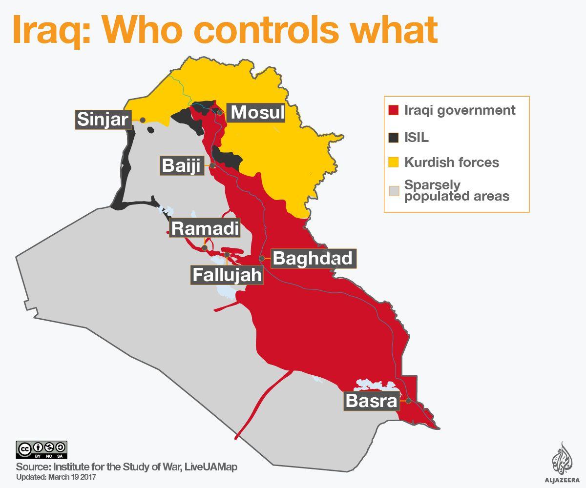 iraq civil war map isil isis kurds ypg | History | Iraq War, Iraqi ...