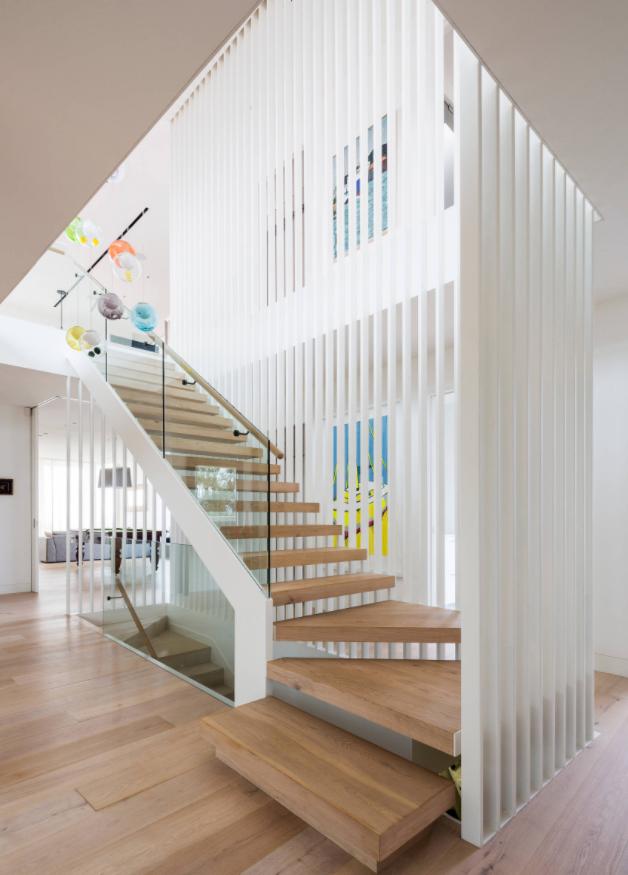 Modern Australian Glass Staircase With Screen. Deck StairsPrefab ...