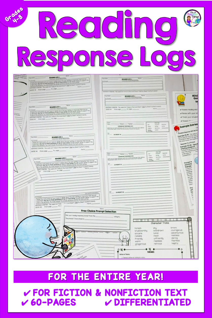 medium resolution of The Reading Logs provide year-long use for kids in upper elementary and  middle school. Perfect for independent …   Reading logs