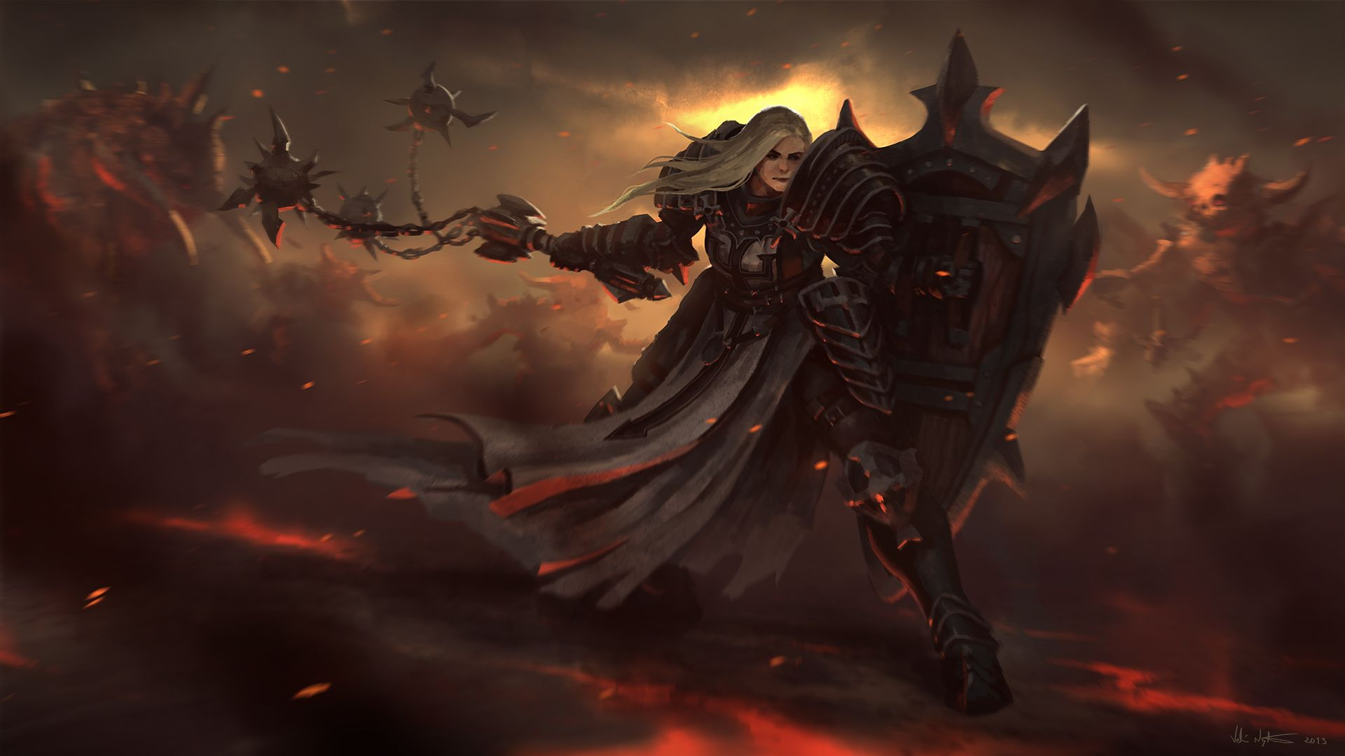 The Crusader is a new class for Diablo III . The class is based on ...
