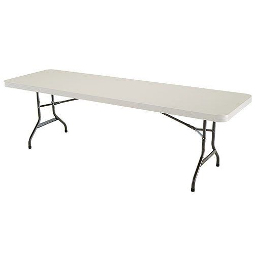 Lifetime 8 Foot Folding Banquet Table Almond Banquet Tables