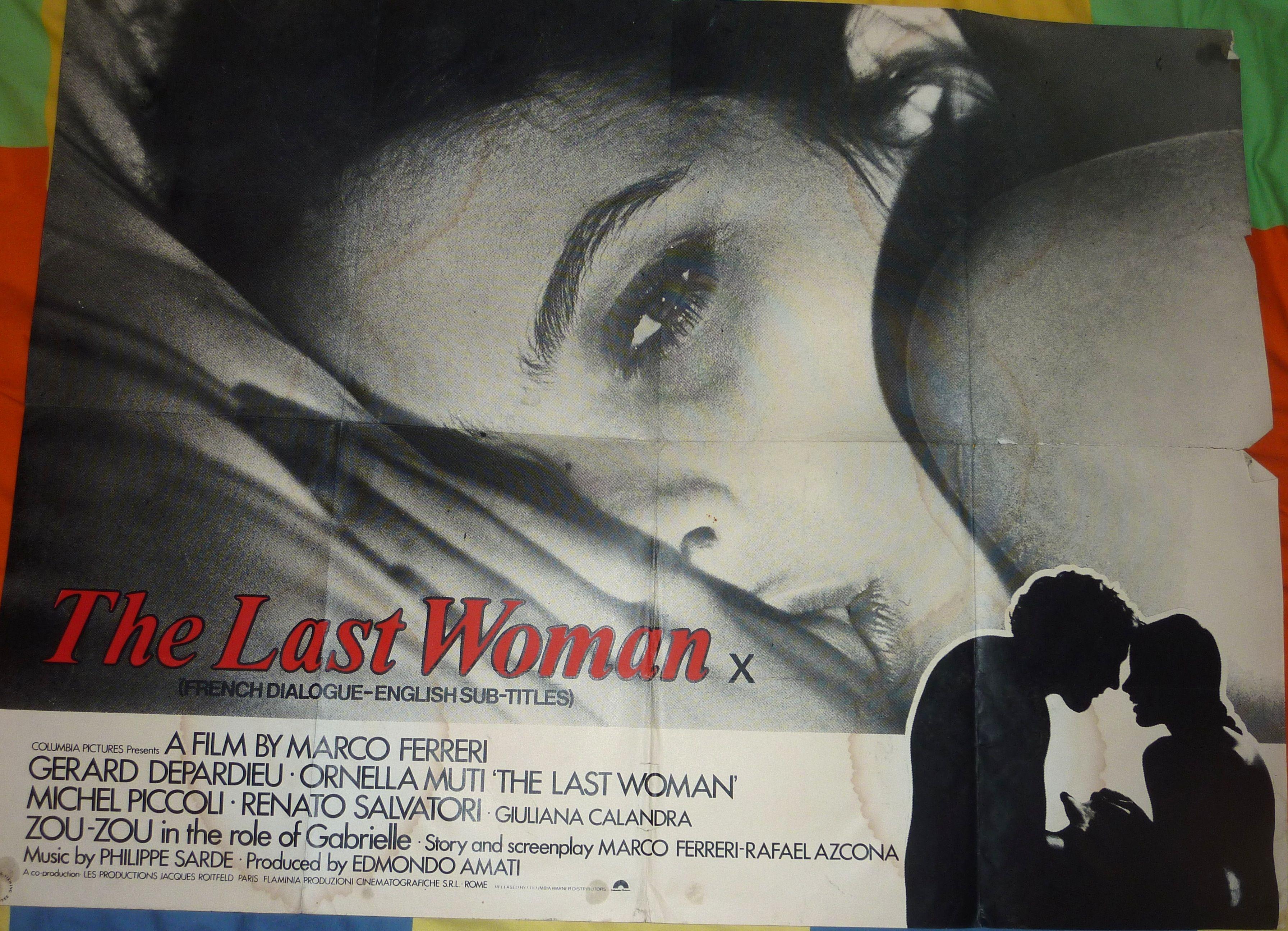 The Last Woman (1976) La dernière femme (original title) UK Quad (2 ...