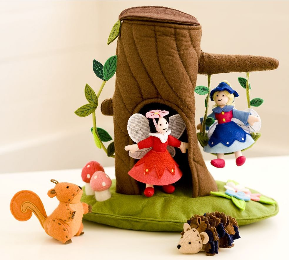 Original design Fairy House soft play set. Felt. Copyright Pottery ...