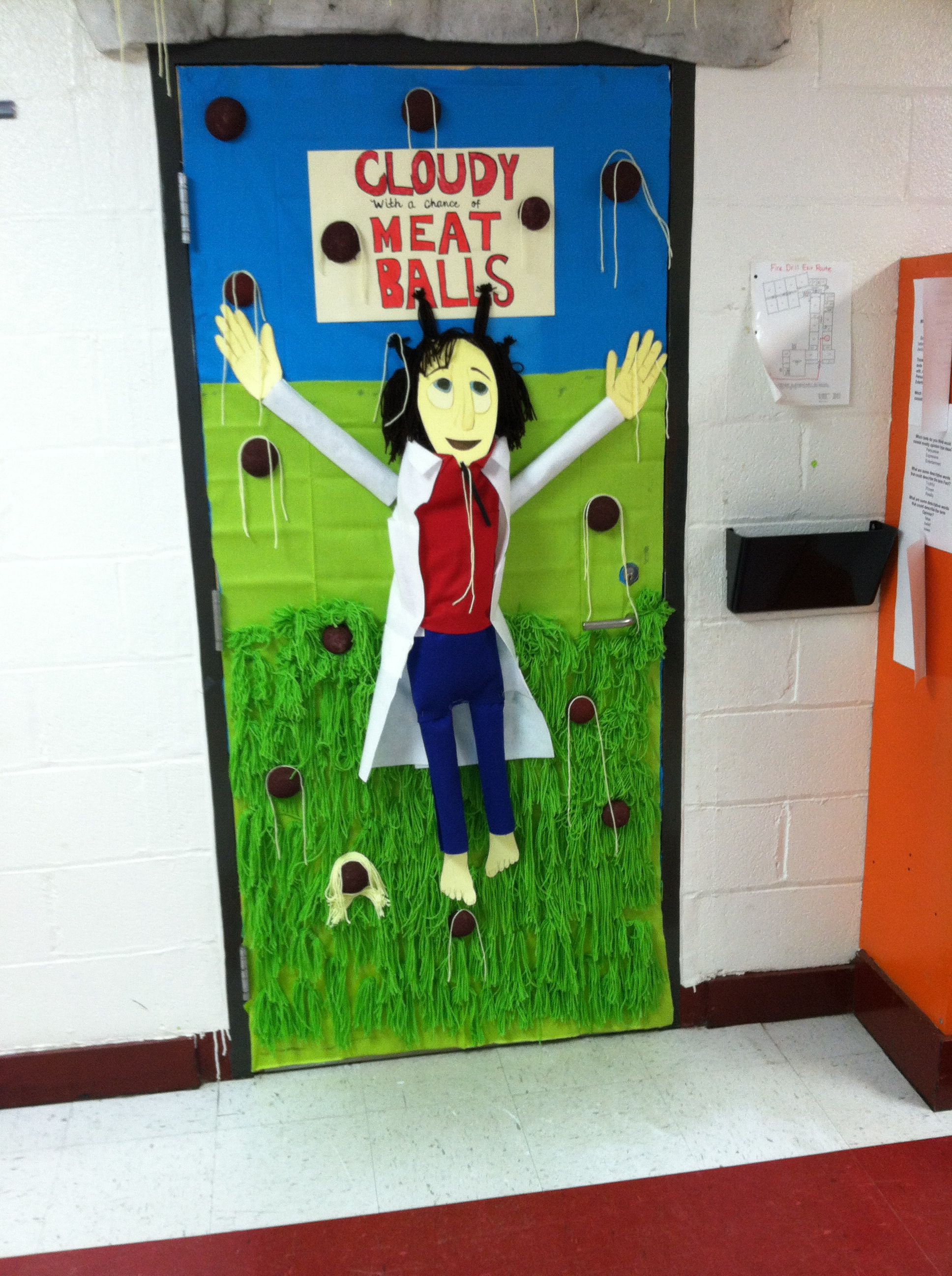 Cloudy With A Chance Of Meatballs Door Decoration