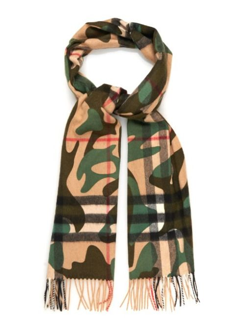 menswearmonday:  What We Want: Camo-print cashmere scarf by...