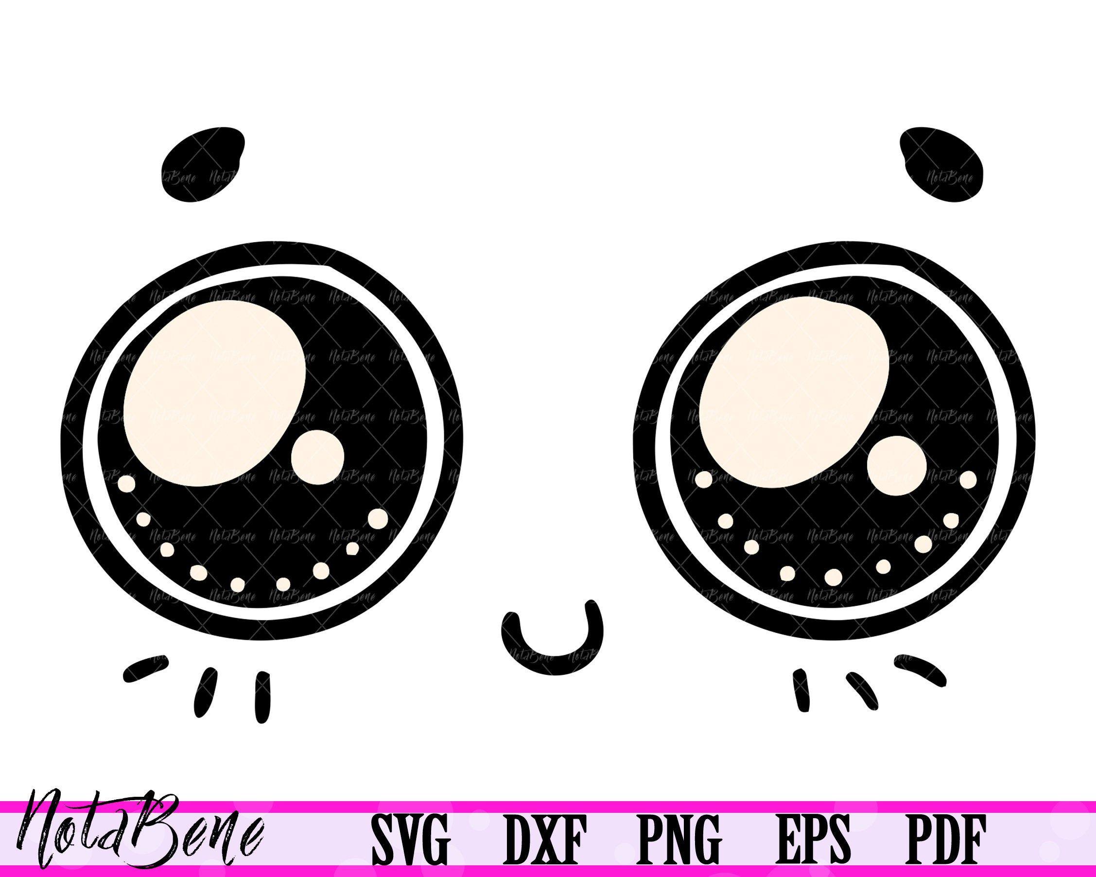 Kawaii Face Svg Kawaii Faces Clipart Cute Cartoon Svg Cute Etsy Kawaii Faces Svg Cute Cartoon Eyes