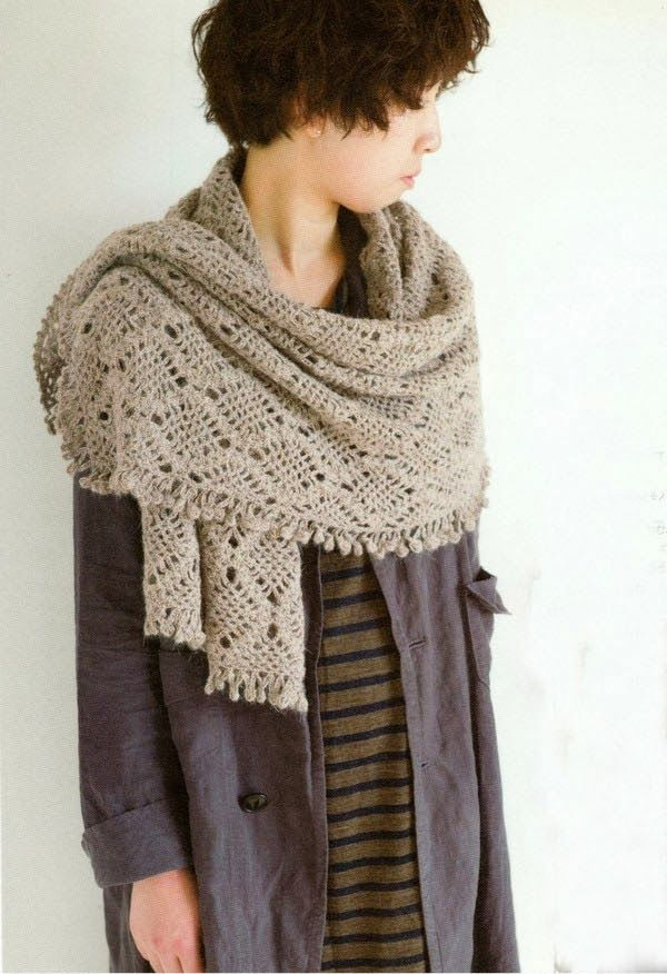 Mes Favoris Tricot Crochet Modèle Gratuit Une étole Au