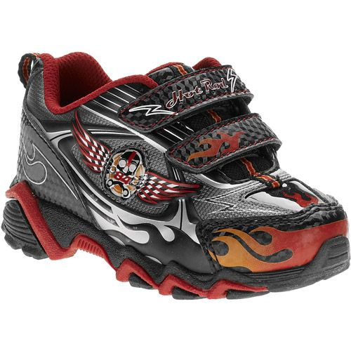 Starter Toddler Boys Hot Rod Light Up Fastener Sneakers Walmart Com Kids Athletic Shoes Kids Athletic Toddler Boys