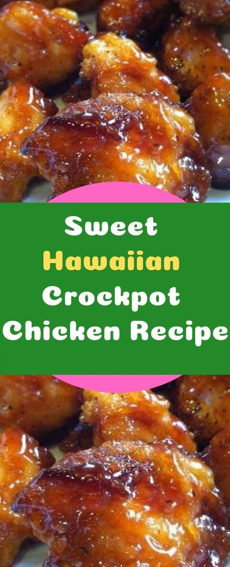 Sweet Hawaiian Crockpot Chicken RecipeIngredients:2 lb. (.9kg) chicken tenderloin chunks1 cup pineapple juice1/2 cup brown sugar1/3 cup soy sauceInstructions:Combine all together, cook on low in Crock-pot 6-8 hours…that's it! #crockpotchickeneasy