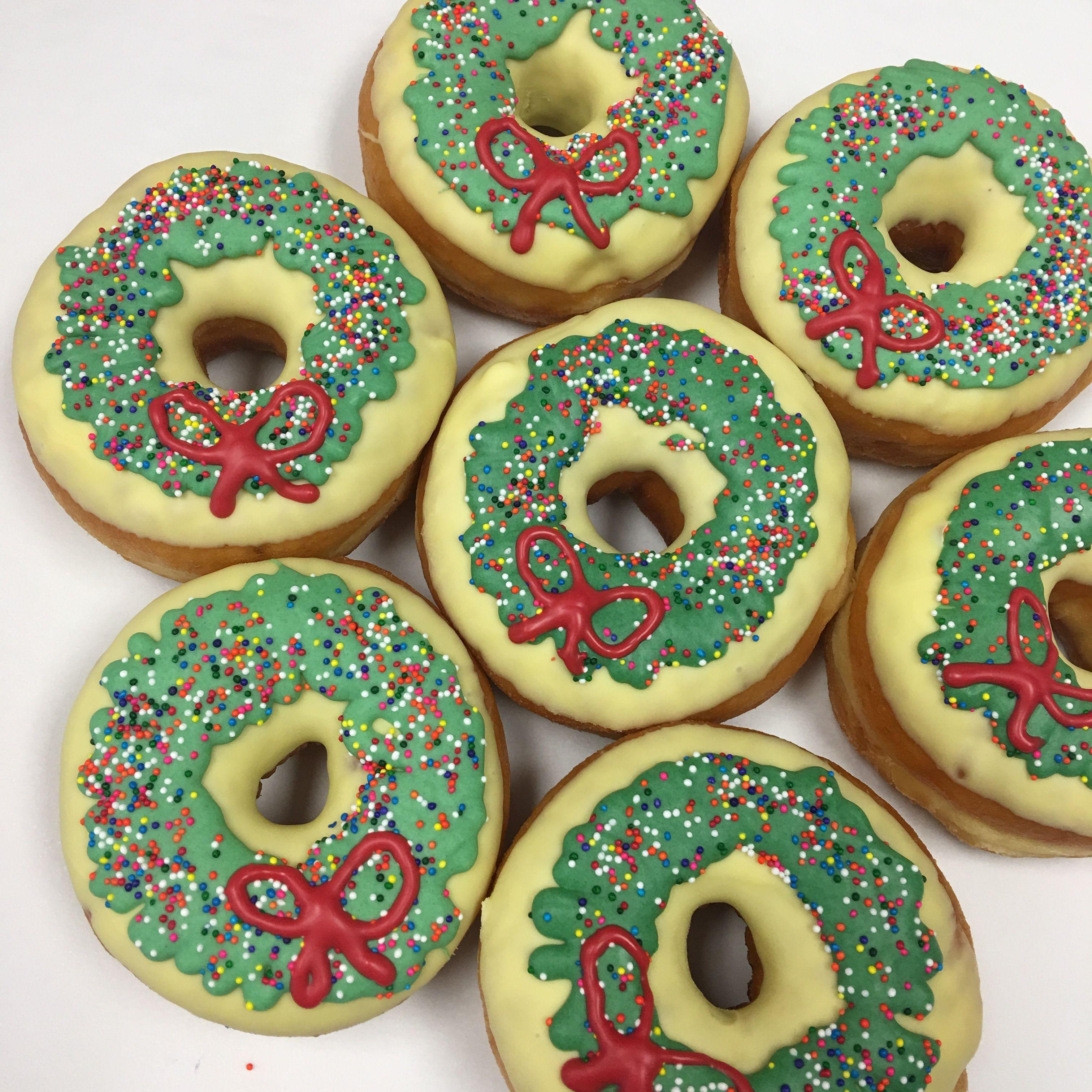 Wreath Christmas Donuts Christmas Donuts Christmas Food California Donuts