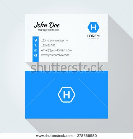 H Letter Logo Minimal Corporate Business Card  Stock Vector  H