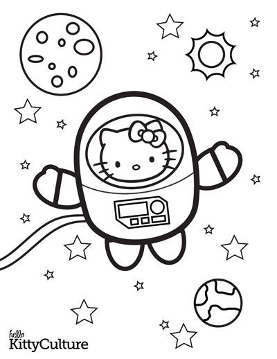 outer space coloring pages hello kitty products hello kitty fan site hello kitty - Outer Space Coloring Pages