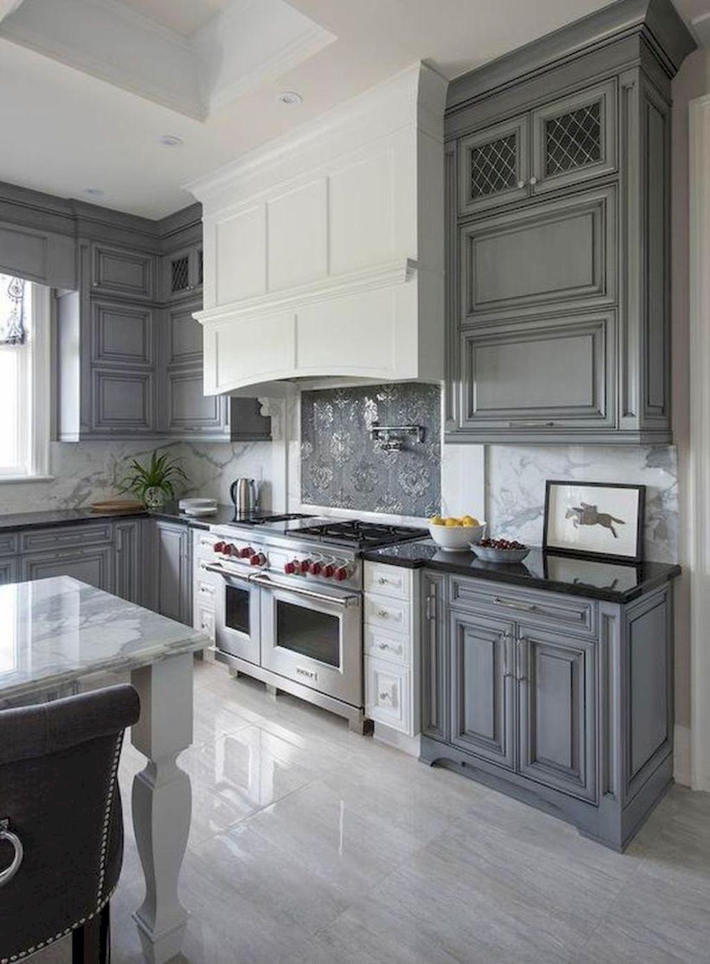 70 modern farmhouse kitchen cabinet and countertops ideas gray and white kitchen kitchen on farmhouse kitchen grey cabinets id=86760