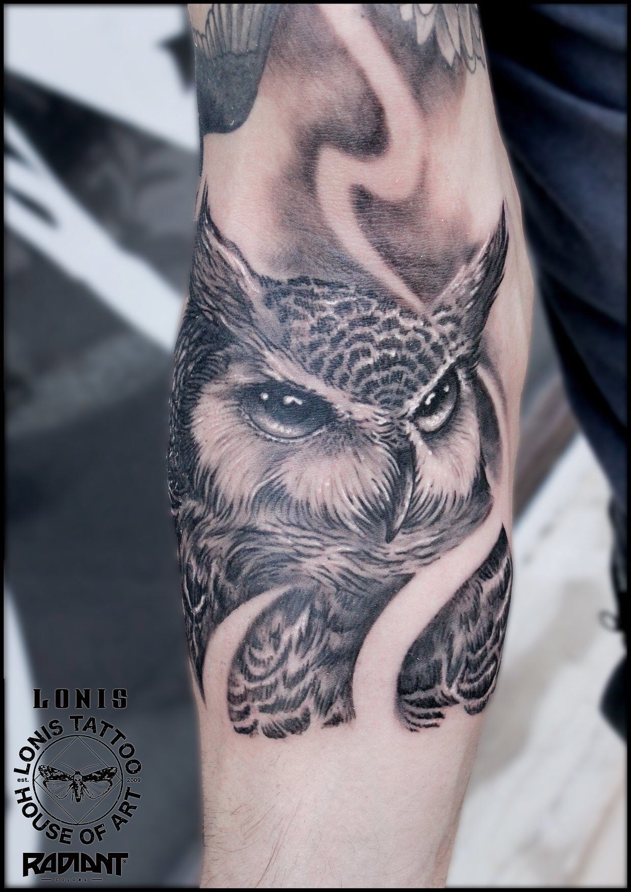Black and grey realistic owl tattoos by Lonis | Tattoos ...