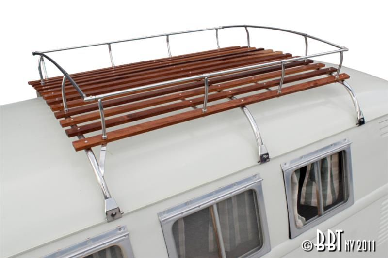 Best Bus 3 Bow Stainless Steel And Wood Slat Roof Rack Roof 400 x 300