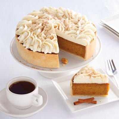 Deep Dish Pumpkin Pie - The entire top of this deep dish pumpkin pie is covered with cream cheese icing then sprinkled with a blend of cinnamon and nutmeg!