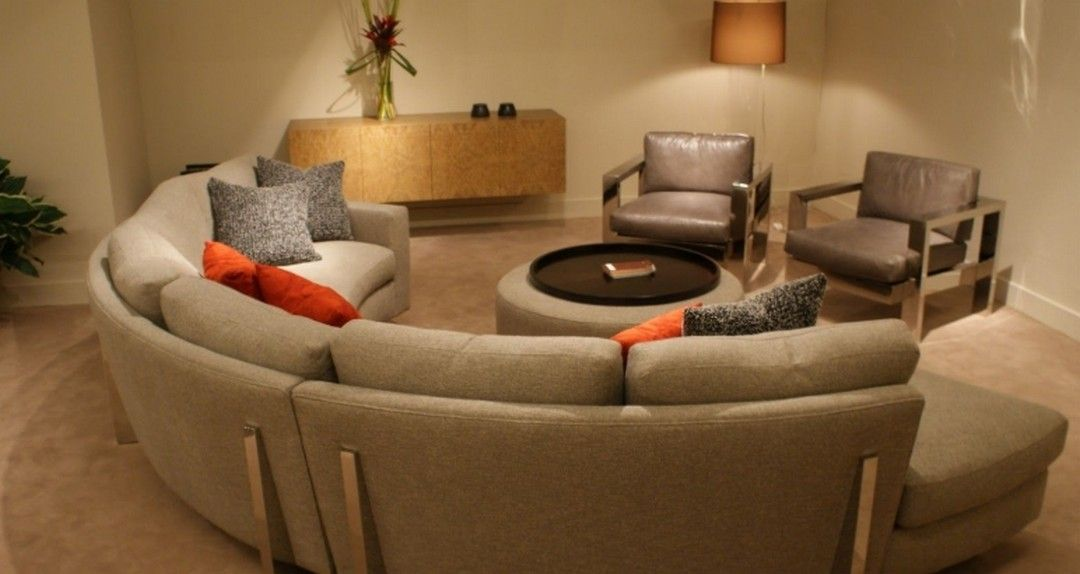6 Circle Living Room Design Ideas With Various Inspirations Circle Couch Semi Circle Couch Living Room Designs