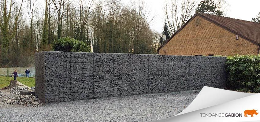 tendance gabion mur anti bruit de 1m de largeur paisseur sur 2m de hauteur au del de 1m de. Black Bedroom Furniture Sets. Home Design Ideas