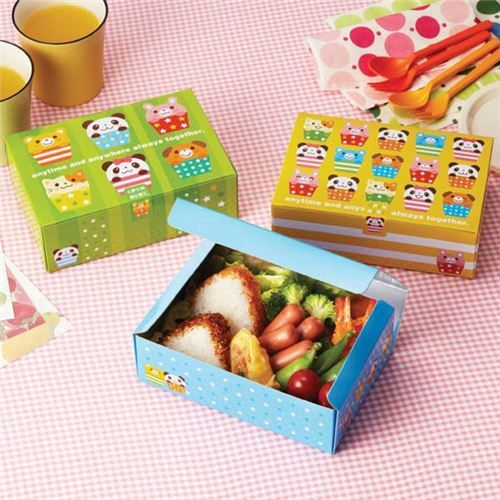 panda cupcake bento food disposable paper bento box sandwich box japanese things pinterest. Black Bedroom Furniture Sets. Home Design Ideas