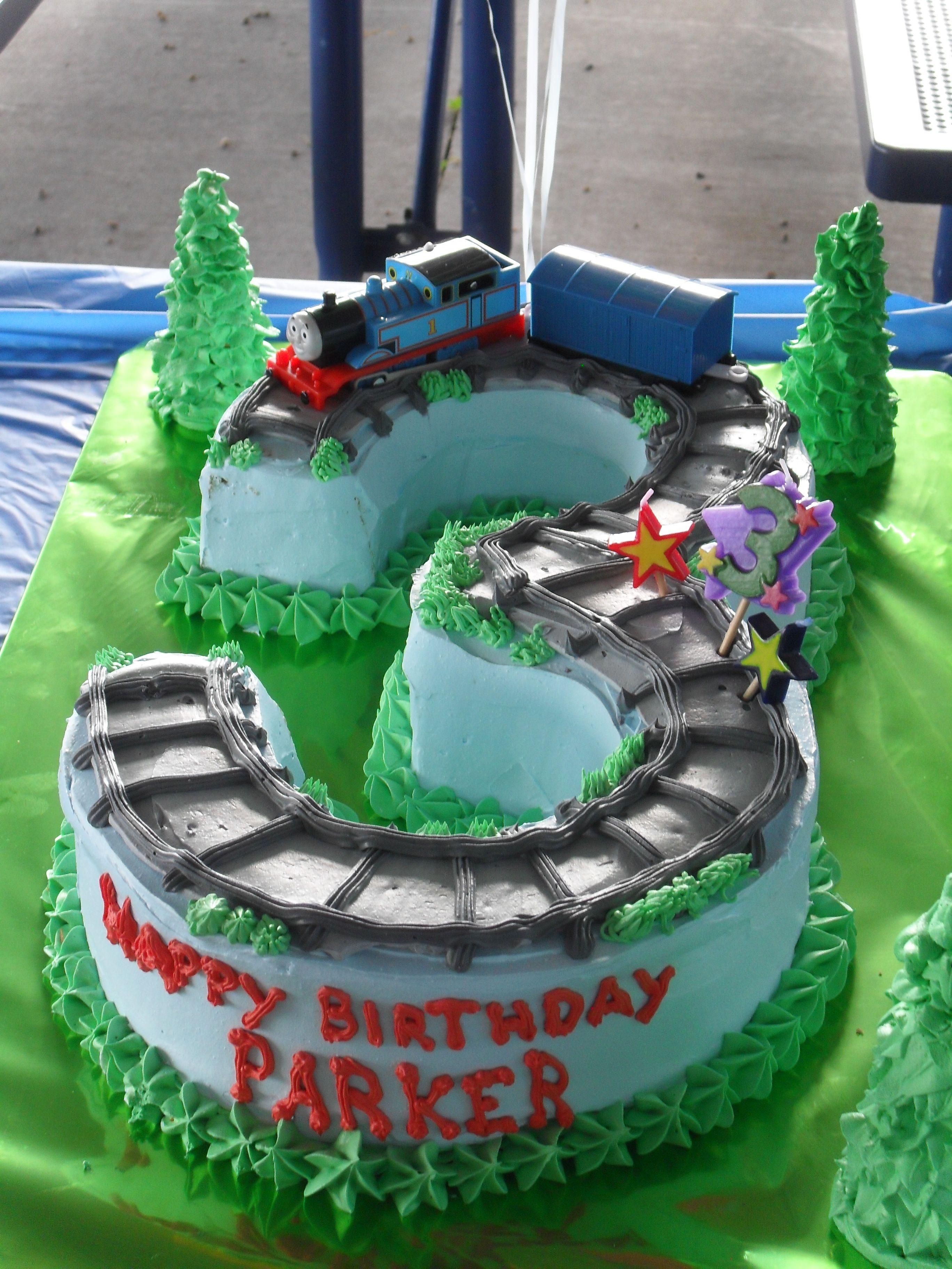 Parkers 3rd Birthday Cake Thomas The Train