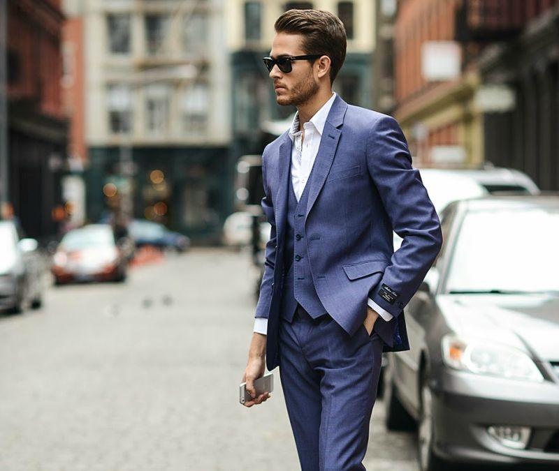 three piece suit modern look