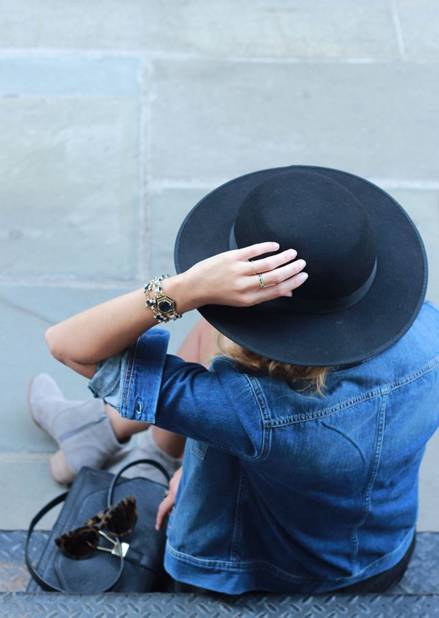 @French Denim Jacket and Favorite Fall Accessories
