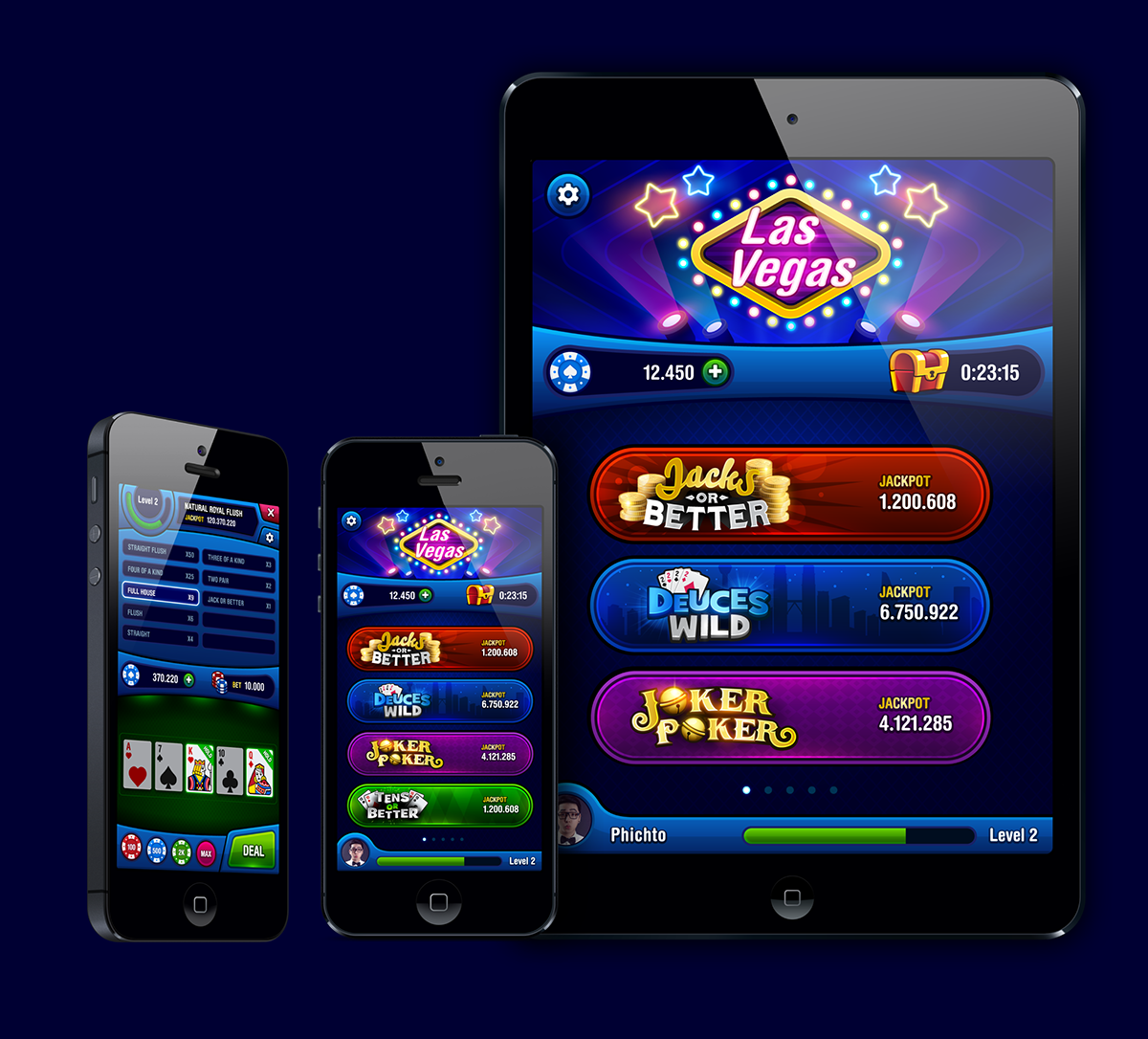 VIDEO POKER on Behance Video poker, Poker