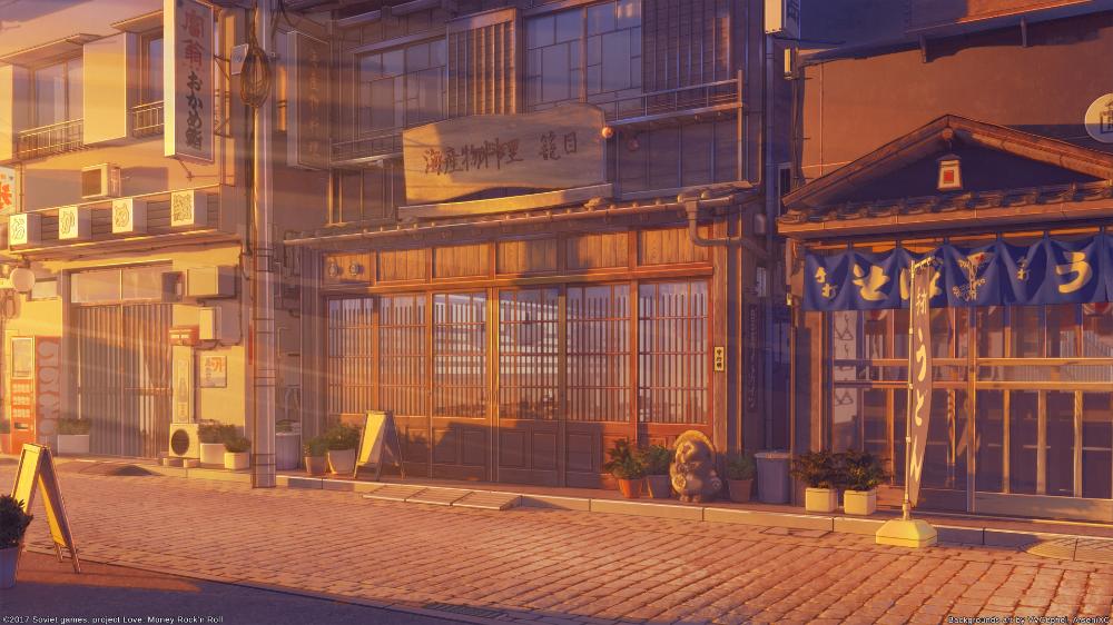 Restaurant street sunset by arsenixc on DeviantArt