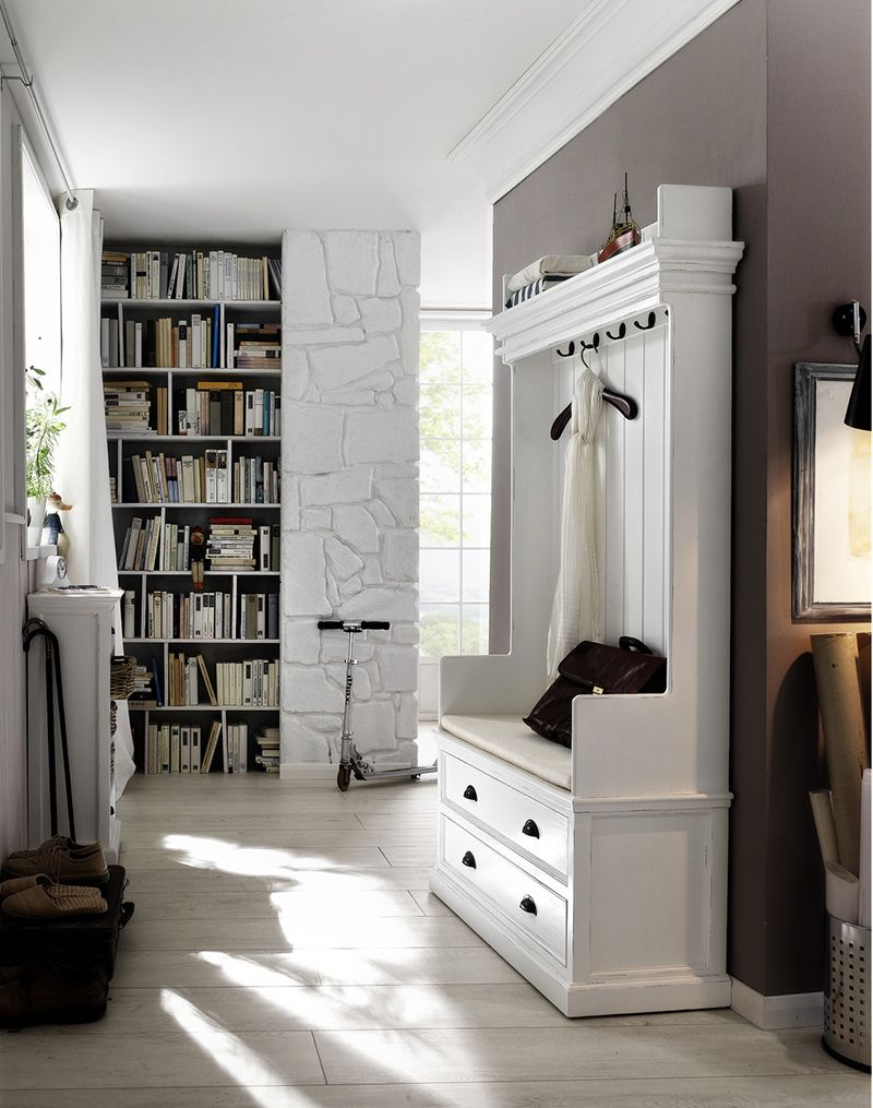 Hallway furniture coat rack   Convenient and Practical Traditional Hall Trees for Your Mudroom