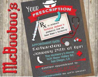 Medical or nursing school graduation party invitation personalized medical or nursing school graduation party invitation by aplumhoot filmwisefo