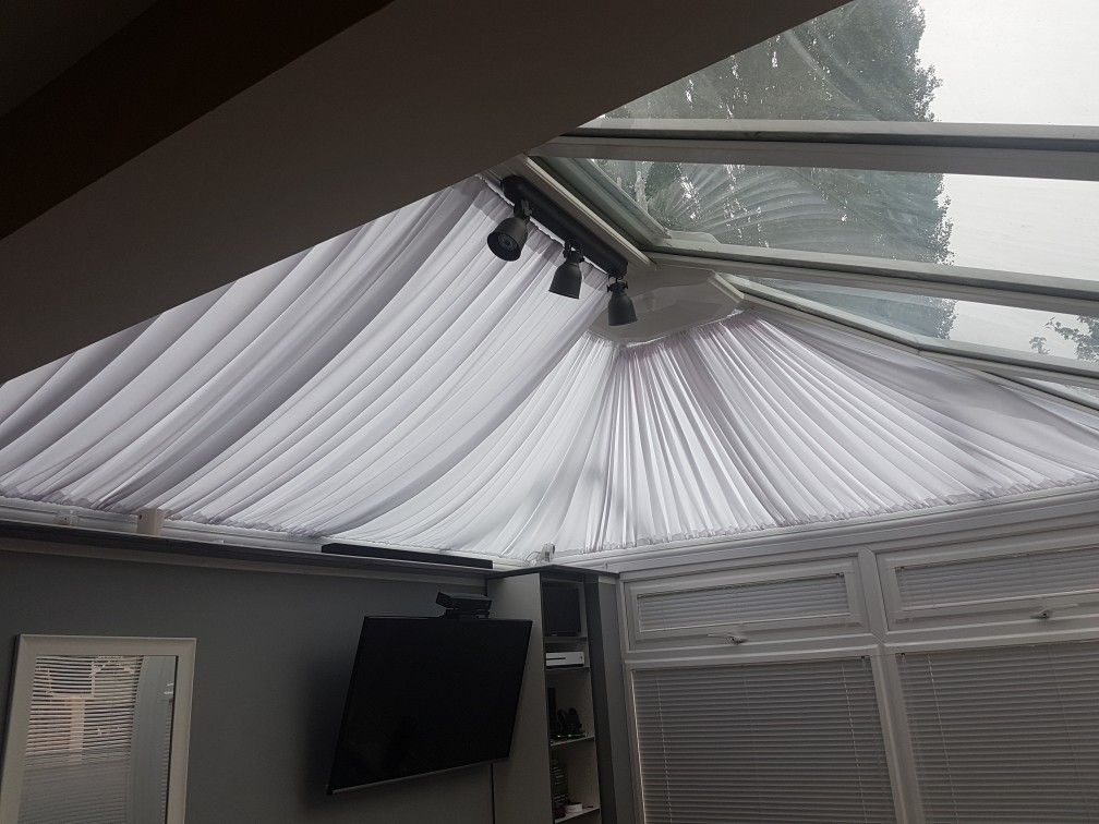 Home Made Conservatory Roof Blinds Around 163 40 In Materials
