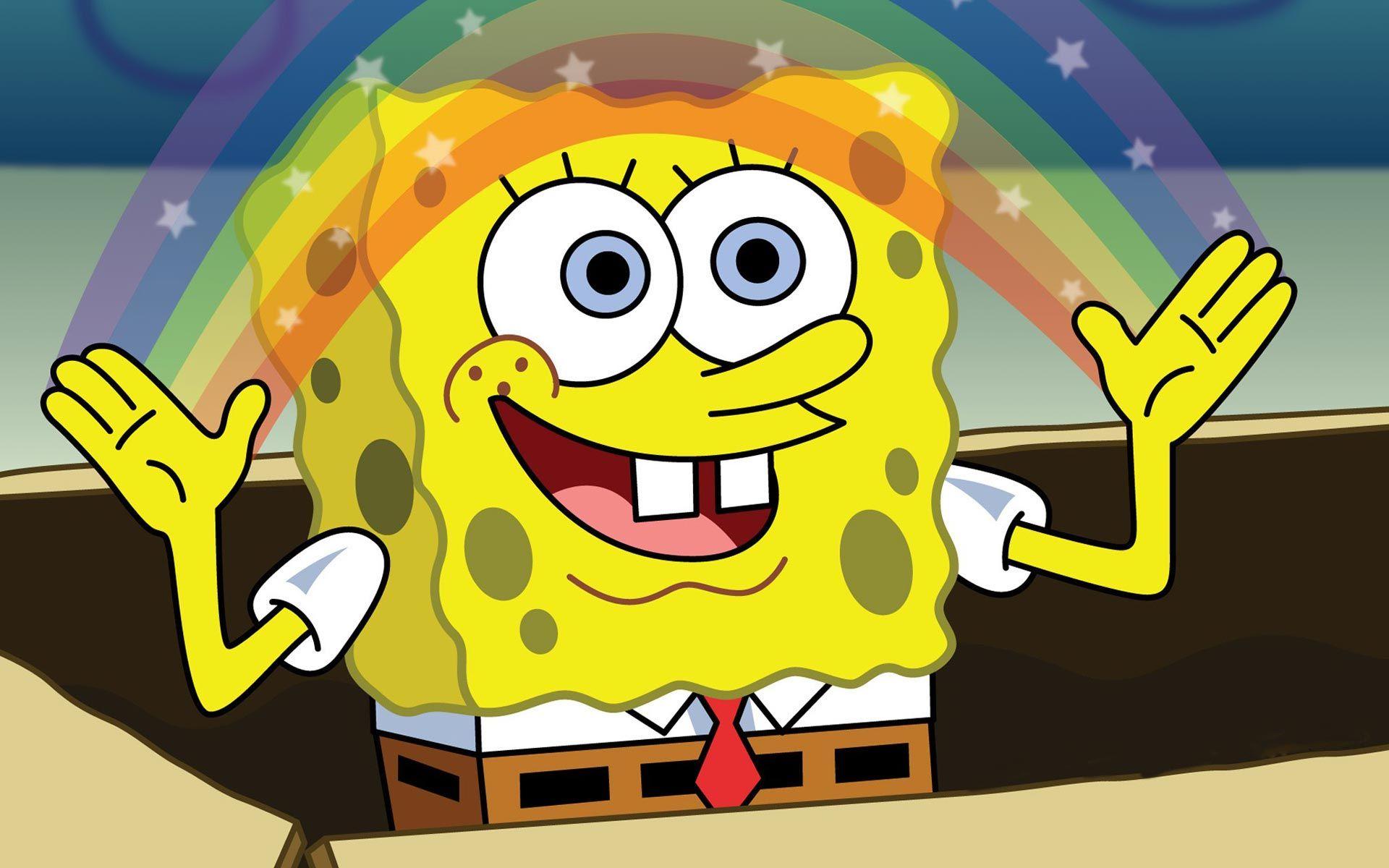 Spongebob Rainbow Meme Wallpaper