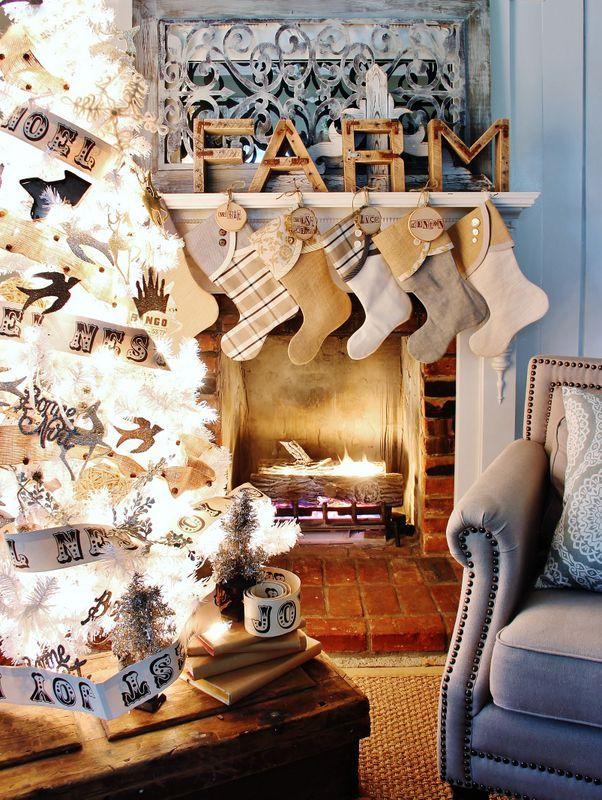 33 Beautiful Christmas Stockings Worth Hanging I love Christmas