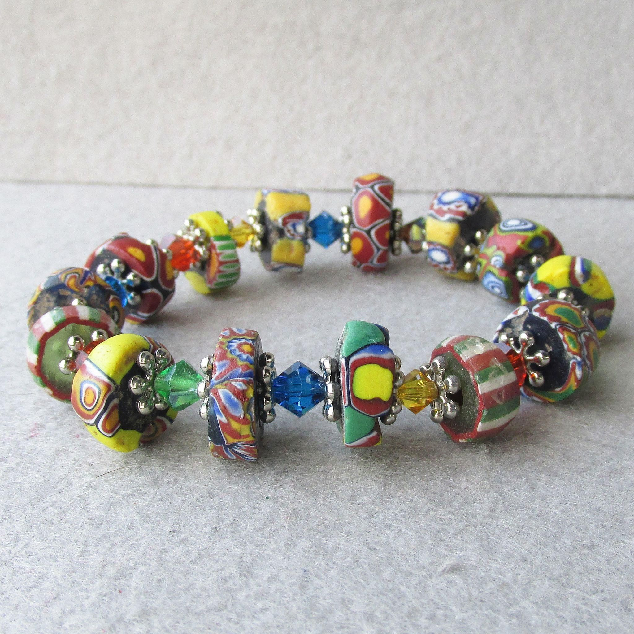 Bead Glass African Beads: Artisan Antique African Trade Venetian Art Glass Bead