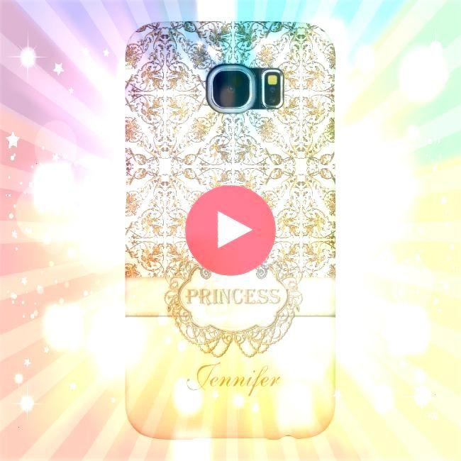 Princess Jewel Bling Crown Personalized Samsung Galaxy S6 CaseElegant Princess Jewel Bling Crown Personalized Samsung Galaxy S6 Case Pink Violets and Pearl Jewel Monogram...