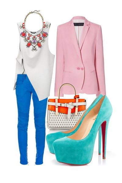 Colorful outfit @Hayley Sheldon Sheldon Rogers #womens #oxford #shoes womens oxford shoes