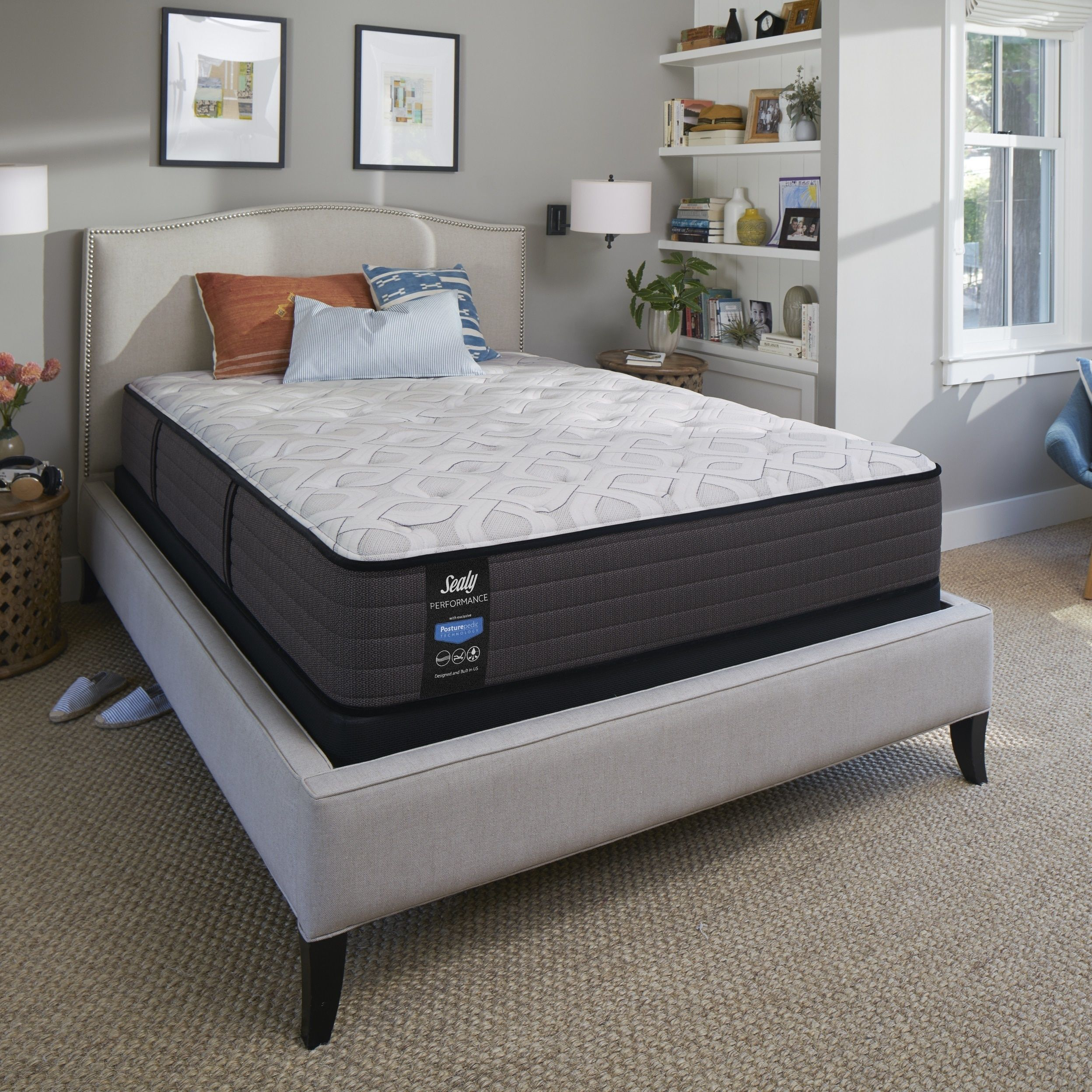 inch size performance pin king response with plush top split sealy tight mattress
