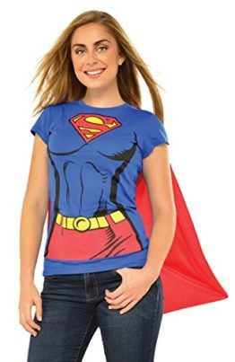 e9b77e14304 Rubies DC Comics Supergirl T-Shirt with Cape Costume 880474 -- You ll look  sexy AND strong in this super girl halloween costume!  supergirl  superhero    ...