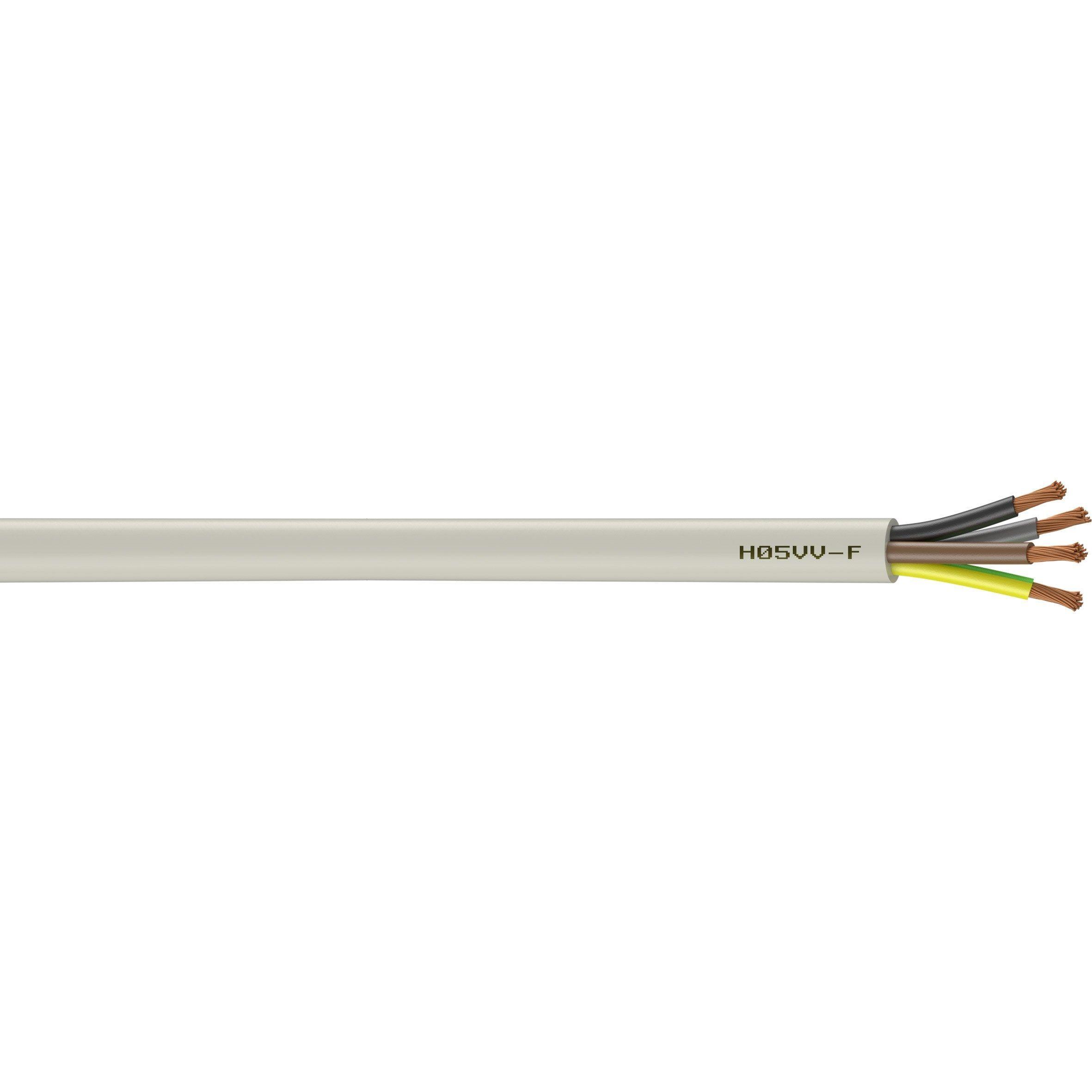 Cable Electrique 4 G 1 5 Mm Ho5vvf En Couronne De 10m Blanc Cable Electrique Electrique Et Blanc