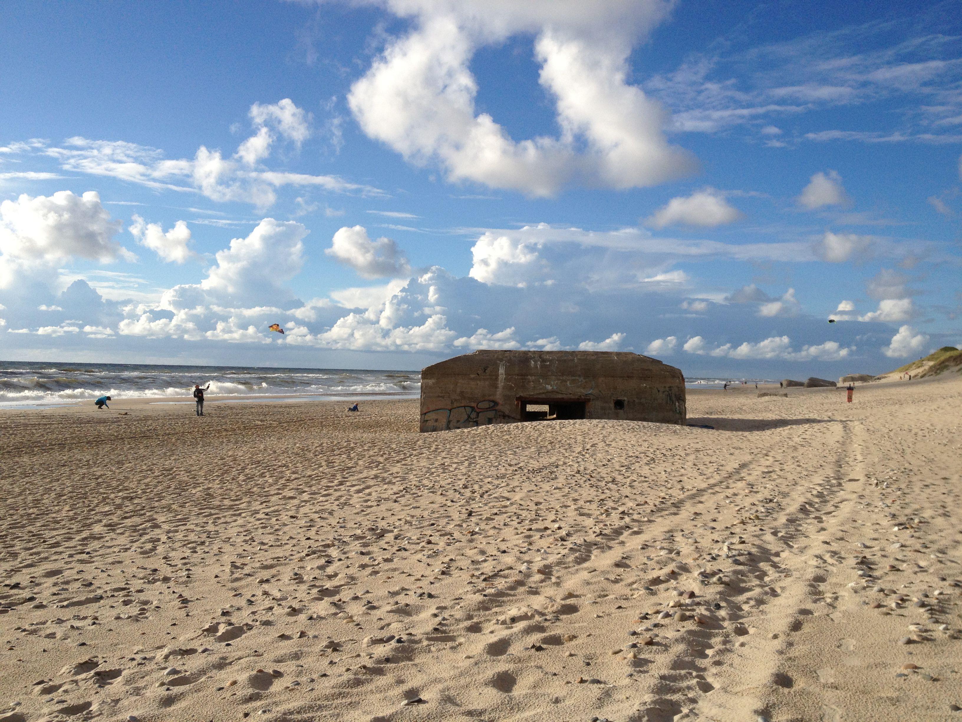 Am Strand Von Sondervig, Dänemark