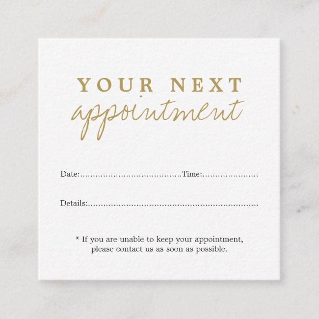Create your own Appointment Card Salon