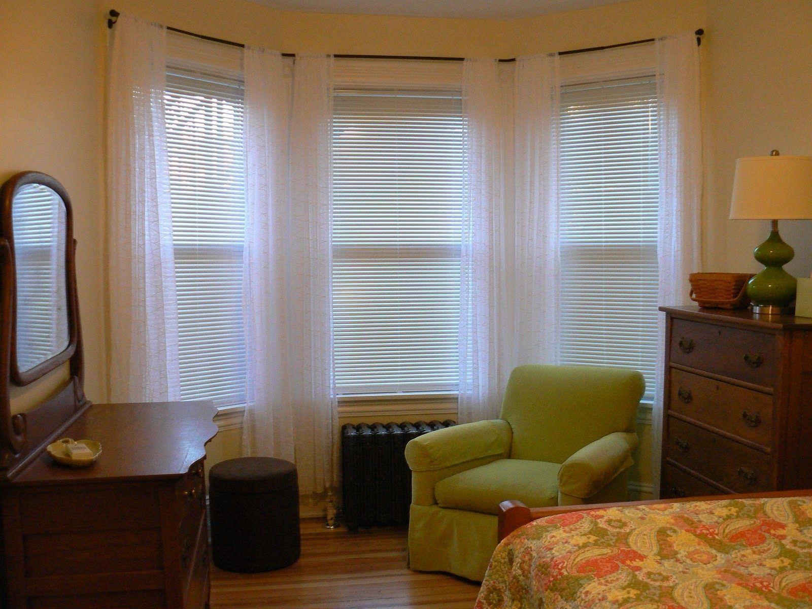 Kirsch Bay Window Curtain Rod Two Curtains On Bow Window