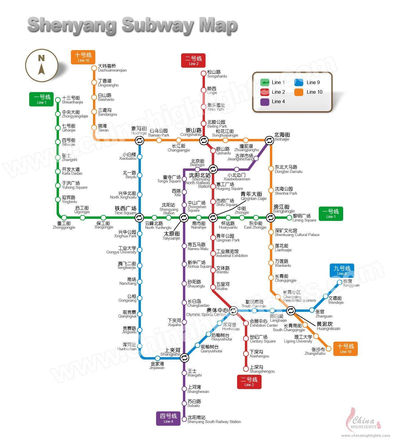Shenyang Subway Fotos