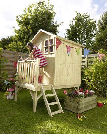 Jardin enfants  13 idées de cabanes, jeux, meubles Per la - Maisonnette En Bois Avec Bac A Sable